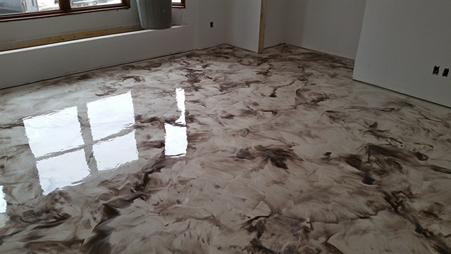 Concrete floor coating residential and commercial for Concrete floor covering